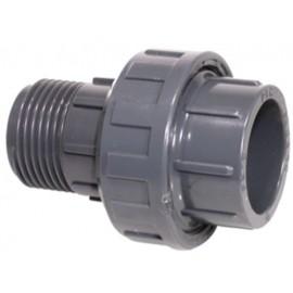 Unión PVC 3 Piezas Mixta RM - Encolar